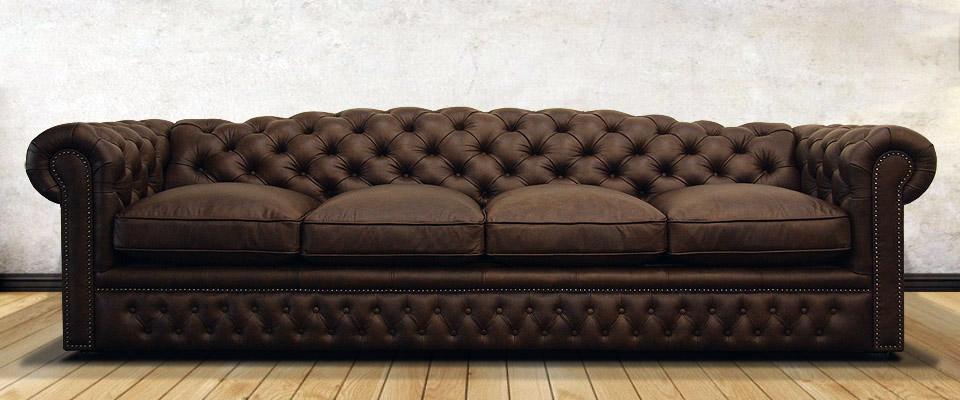 четырехместный кожаный честер со спальным местом