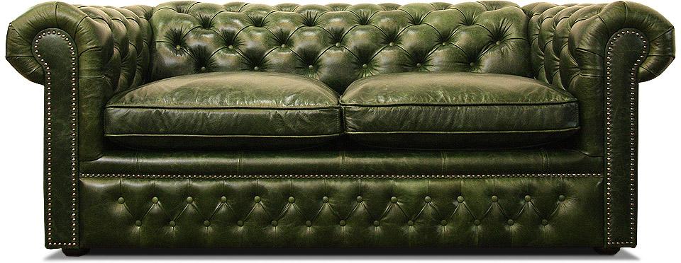 кожаный диван честер раскладной