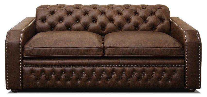 кожаный диван в классическом стиле раскладной