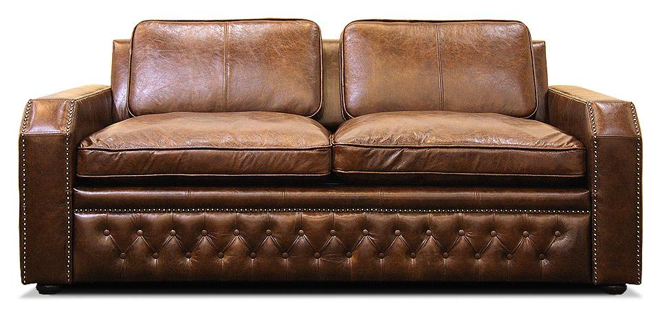кожаный диван с механизмом трансформации