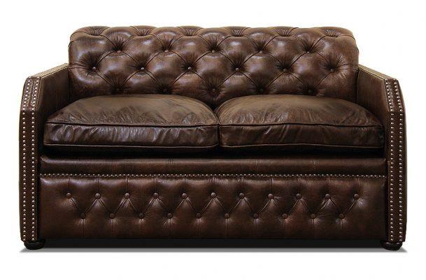кожаный мини диван честер раскладной