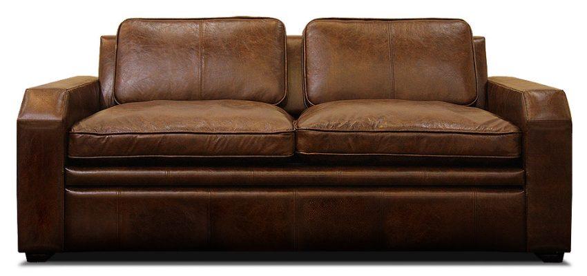 кожаный диван раскладной в современном стиле