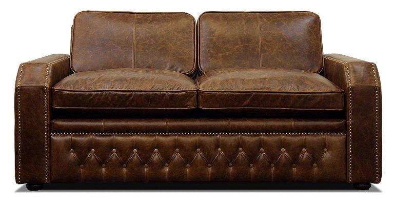 двухместный кожаный диван раскладной