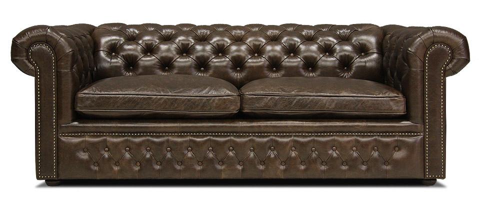 кожаный диван честерфилд раскладной