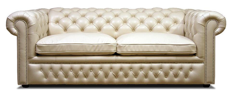 белый кожаный диван честер раскладной