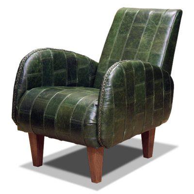 кожаное кресло на ножках